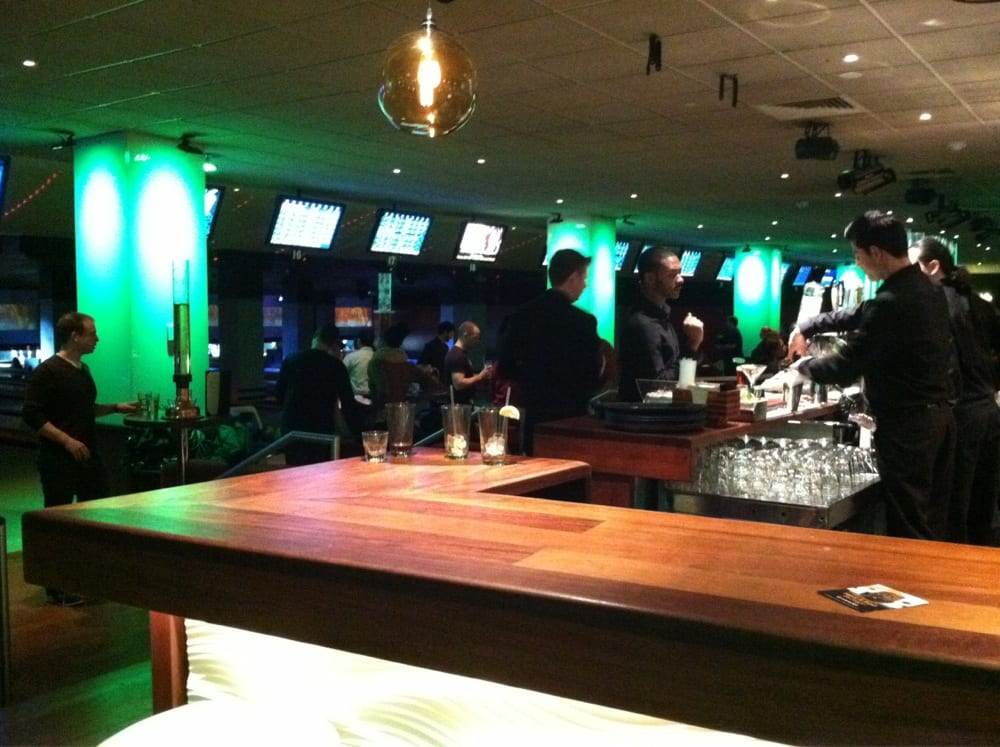 Bowling for adults: 2 full bars, dance lounge with DJ, restaurant ...