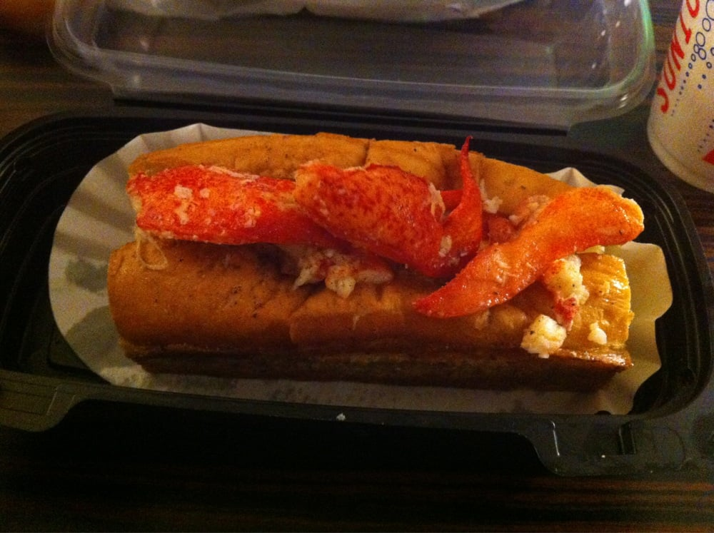 Large lobster roll. $17.00 - Yelp