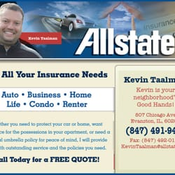 Allstate insurance agent kevin taalman home rental for Renters insurance chicago reviews