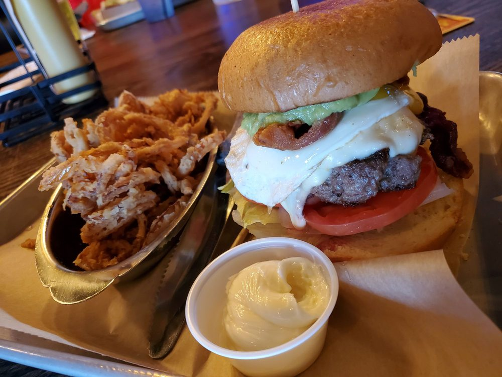 Food from Boss Burger & Brew