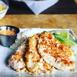 photo of kitchen 5315 lahaina hi united states coconut crusted chicken