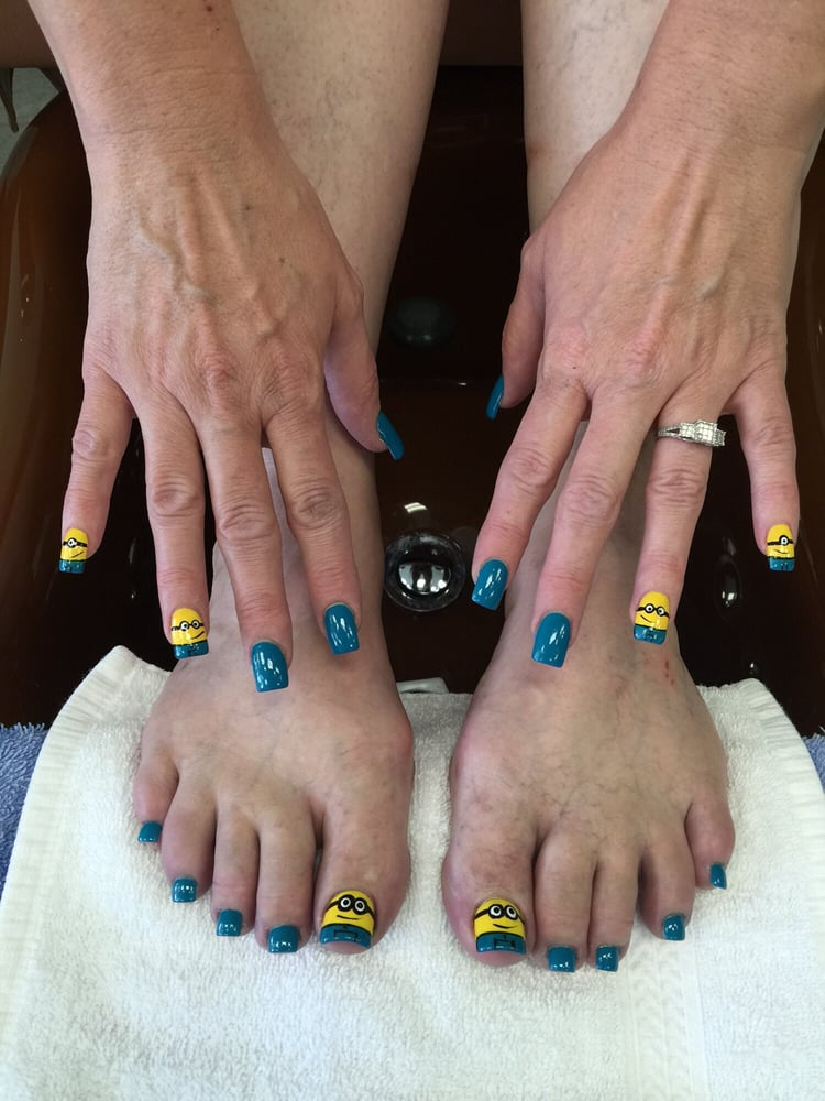 Minions design matching hands and toes - Yelp