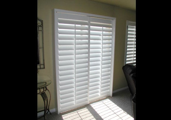 Plantation Shutter For Sliding Glass Door 3 5 Louvers Yelp