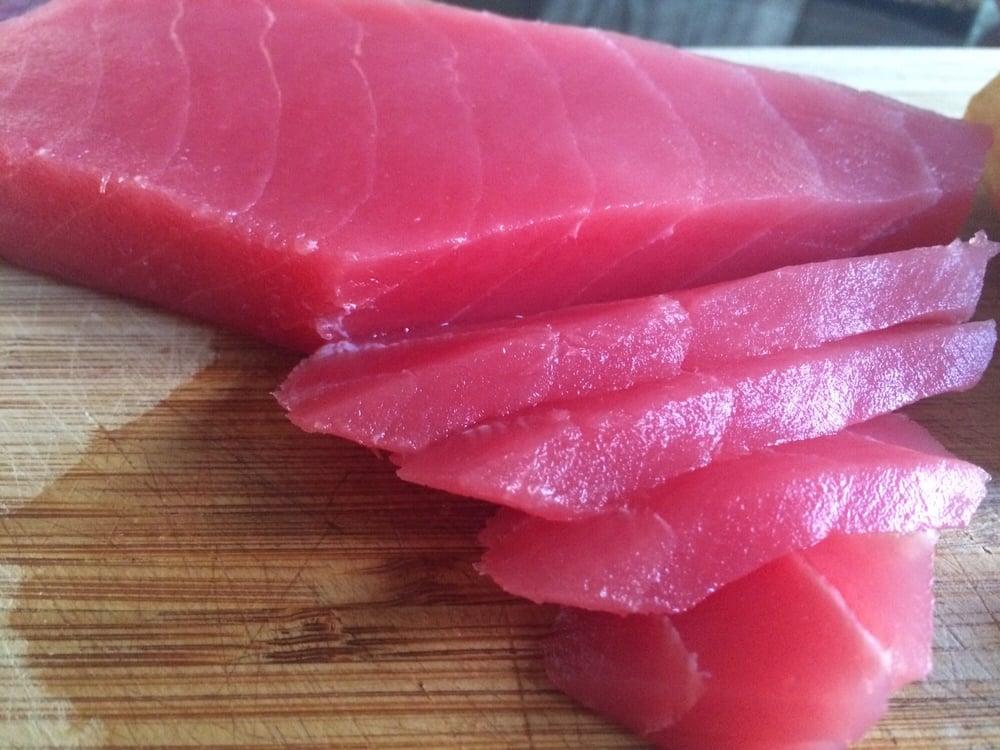 Ahi tuna sushi grade saku block 10oz yelp for Sushi grade fish near me