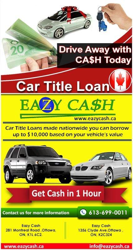 Car Title Loans Ottawa Eazy Cash Borrow Against Car Yelp