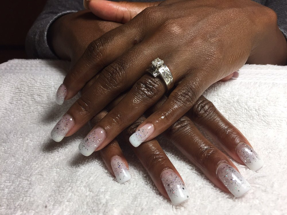 Lovely & super professional. Diane even Hombre Sparkled my nails for ...