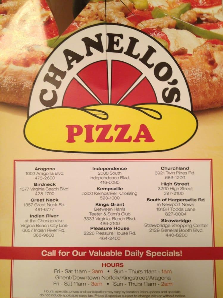 Chanello S Pizza  Virginia Beach Va