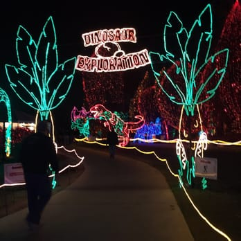 photo of holiday lights at calm bakersfield ca united states dinosaur themed - Bakersfield Christmas Town