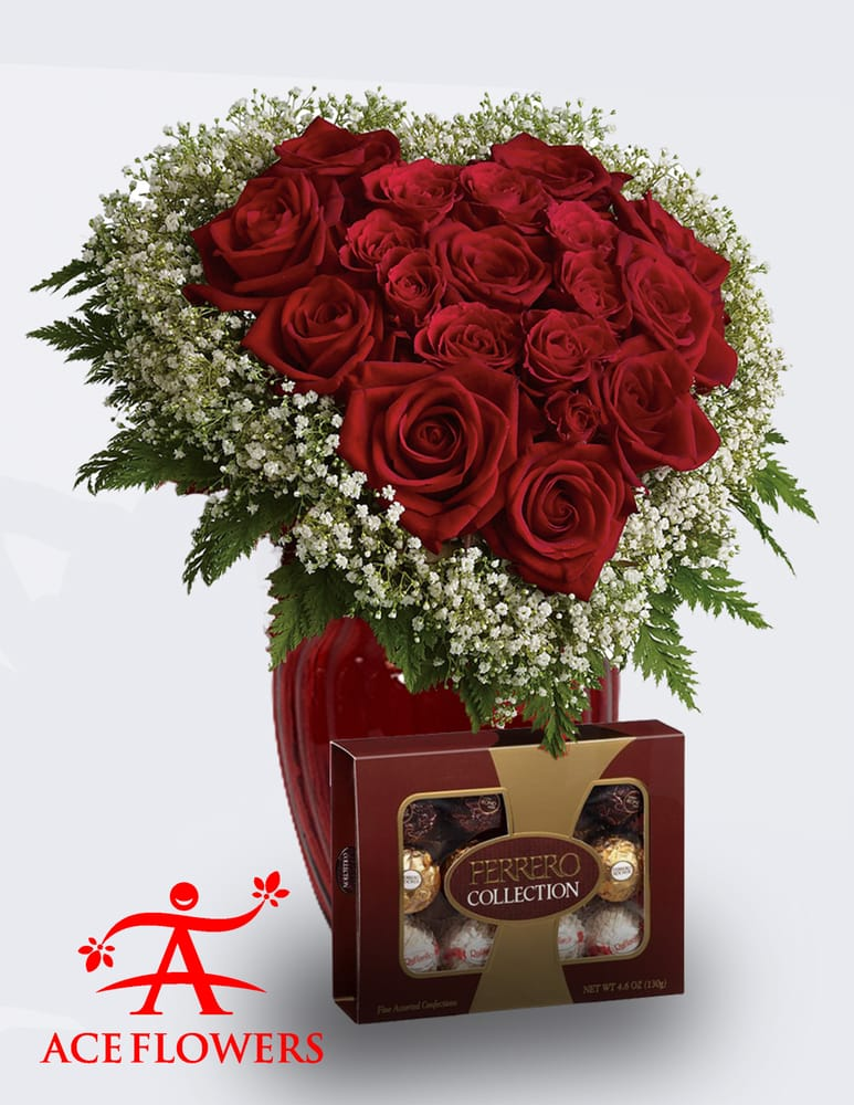 Online Flower Delivery Heart And Soul Gift Set Ace