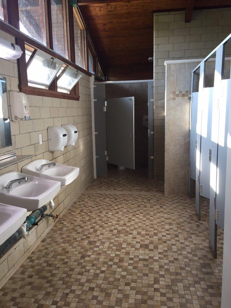 Deer run loop bathroom. The last stall is ADA compliant ...