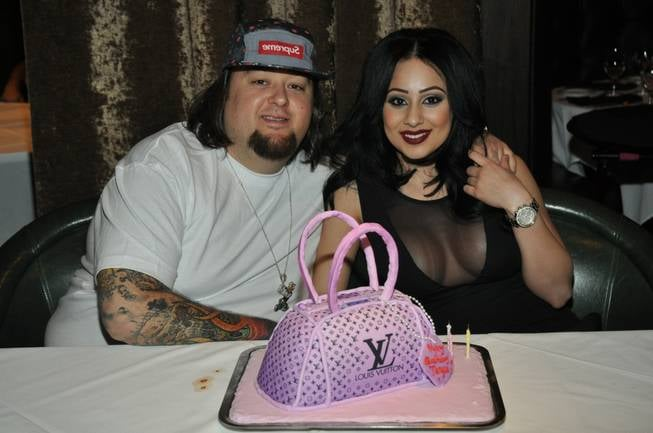 This handbag is not a LV bag its a cake Chumlees girlfriend at