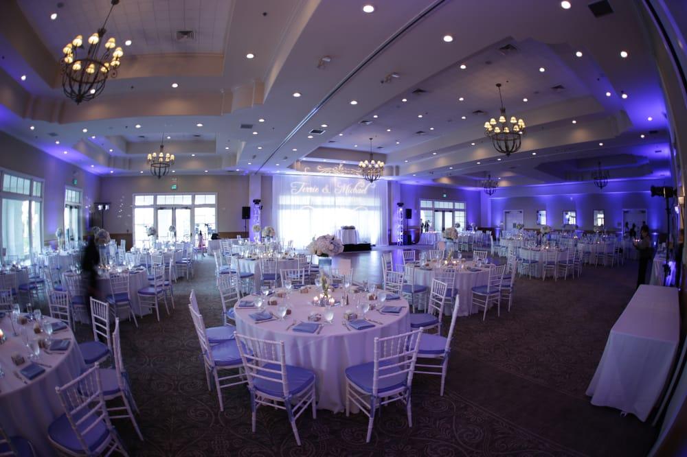 Los Coyotes Country Club Wedding Reception By Centerpiecevents Dj