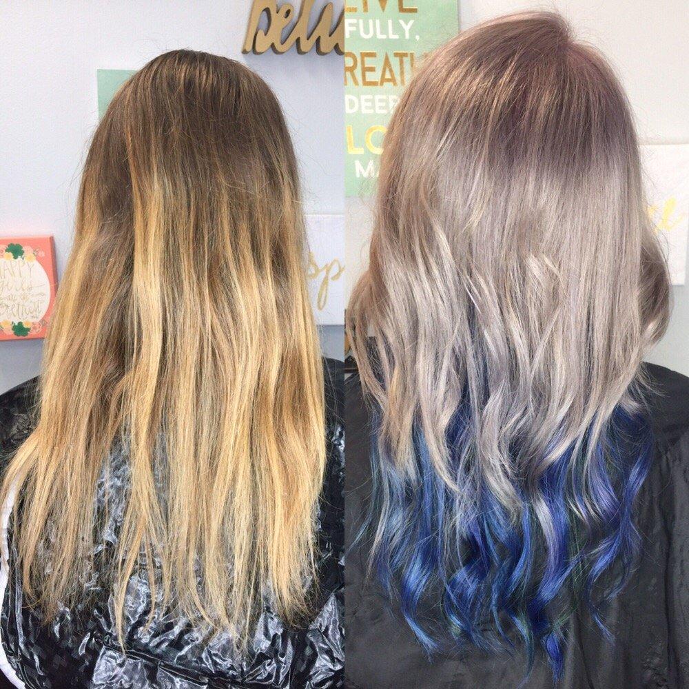 Double Process, Smoke Ash Blonde , Fashion Color Blue
