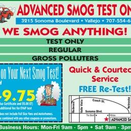 Advanced Smog Motor Vehicle Inspection Testing 3215 Sonoma Blvd Vallejo Ca United