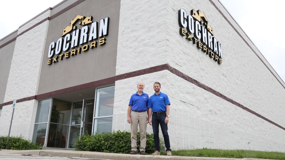 father and son working together to make cochran exteriors the best in the business yelp