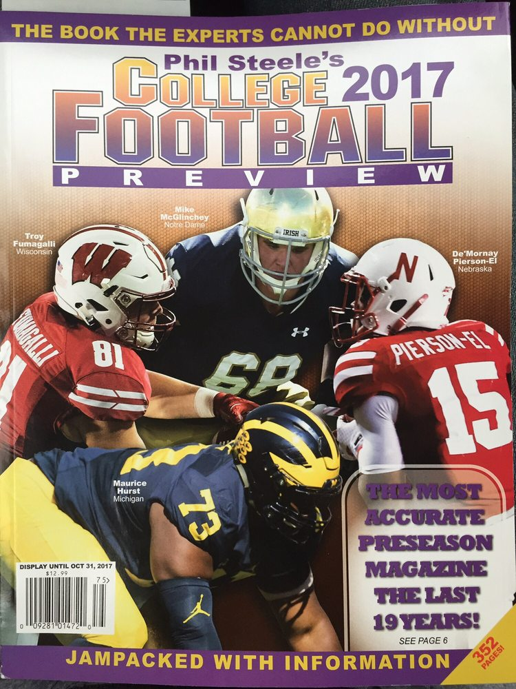 College football preview magazines are available in June  June 22