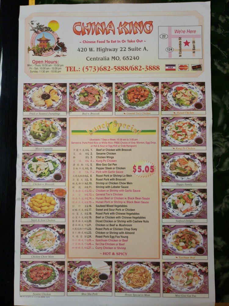 China King: 420 W Hwy 22, Centralia, MO