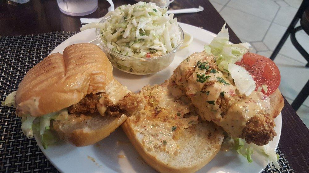 Catfish poboy w cilantro lime slaw yelp for Fish market charlotte nc