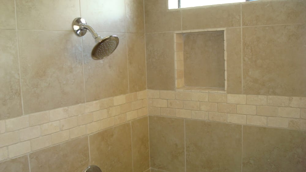 tiling in bathrooms shower porcelain tile with travertine yelp 14760