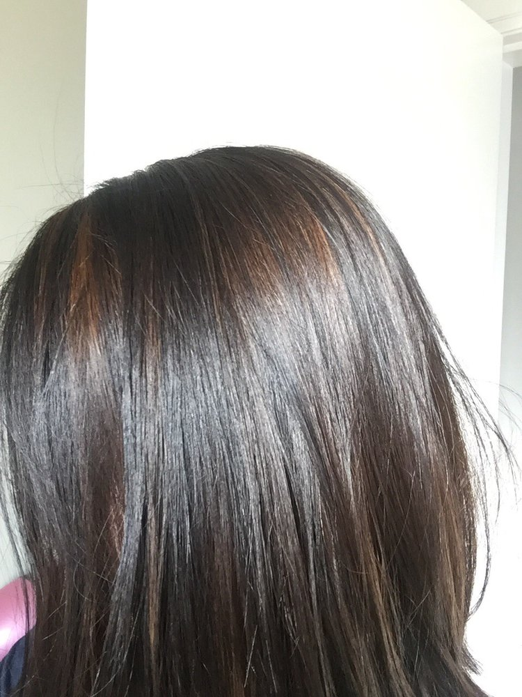 Brown Highlights On My Virgin Asian Hair My Natural Hair Colour Is