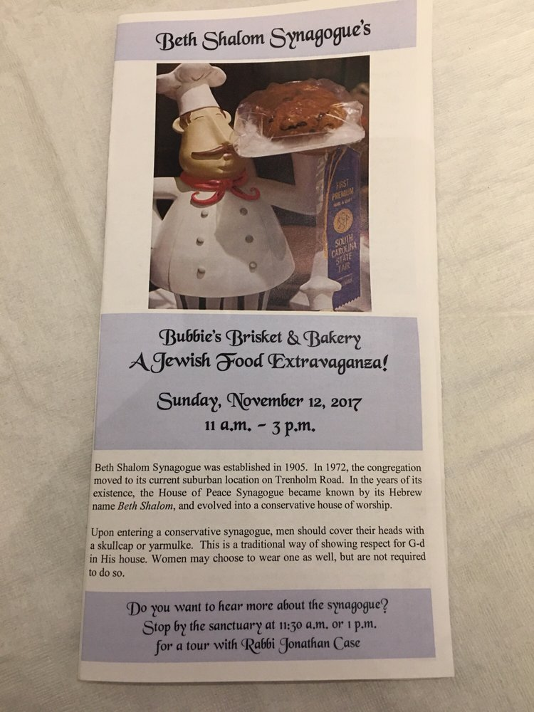 Bubbie's Brisket & Bakery Jewish Food Extravaganza: 5827 N Trenholm Rd, Columbia, SC