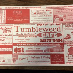 Tumbleweed Cafe 11 Reviews Cafes 850 E South St Broken Bow Ne Restaurant Phone Number Last Updated December 10 2018 Yelp