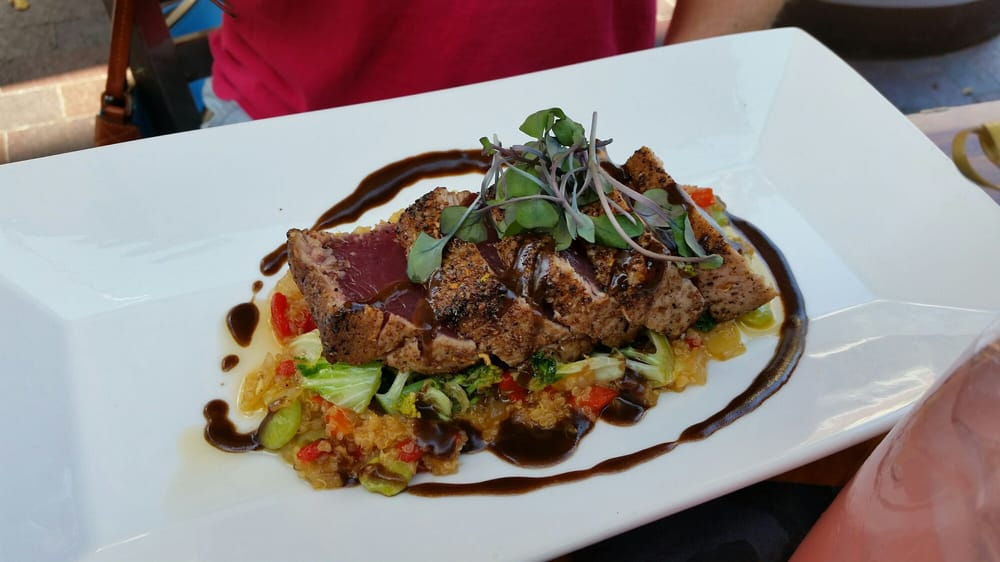 Seared tuna was excellent with indian spices yet no curry for Ajanta indian cuisine st petersburg