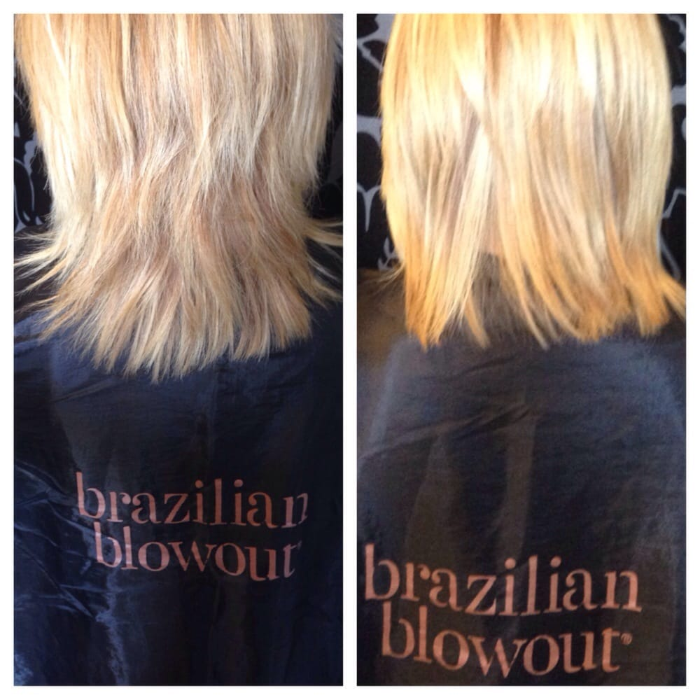 Before and after Brazilian Blowout's Split Ends Treatment ...