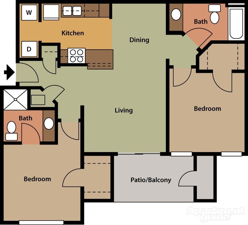 St Charles Apartments: 2 Bedroom