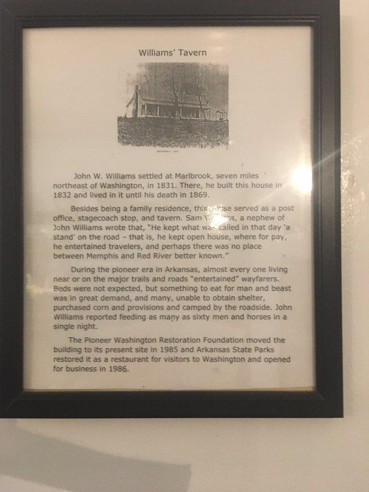 Williams Tavern: 105 SW Carroll St, Washington, AR