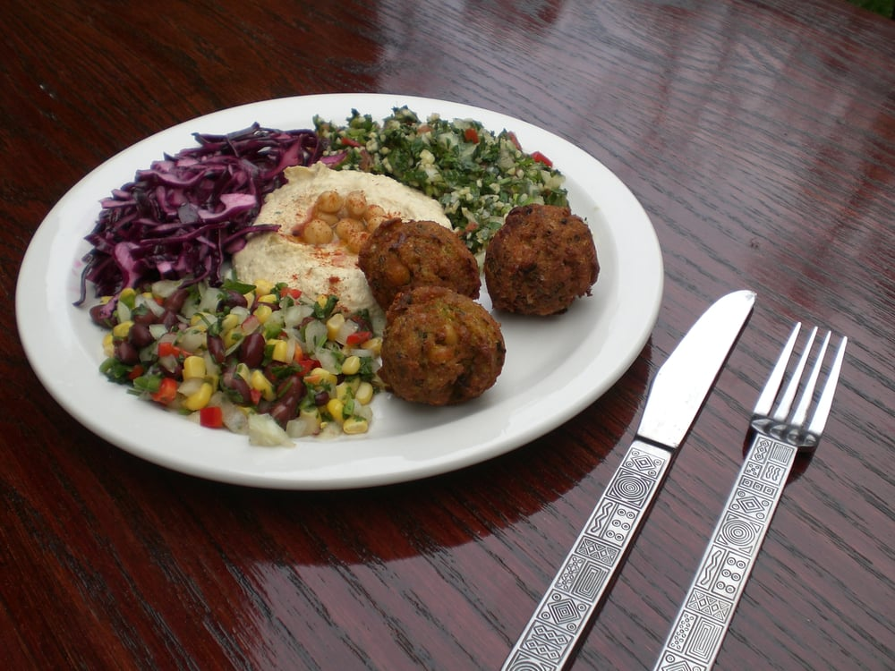 Food from Pinched Mediterranean Grill
