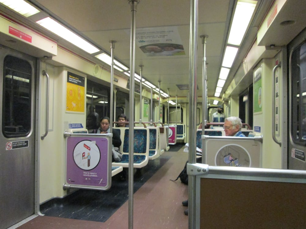 Interior of a red line subway car very clean in - Interior car cleaning los angeles ...