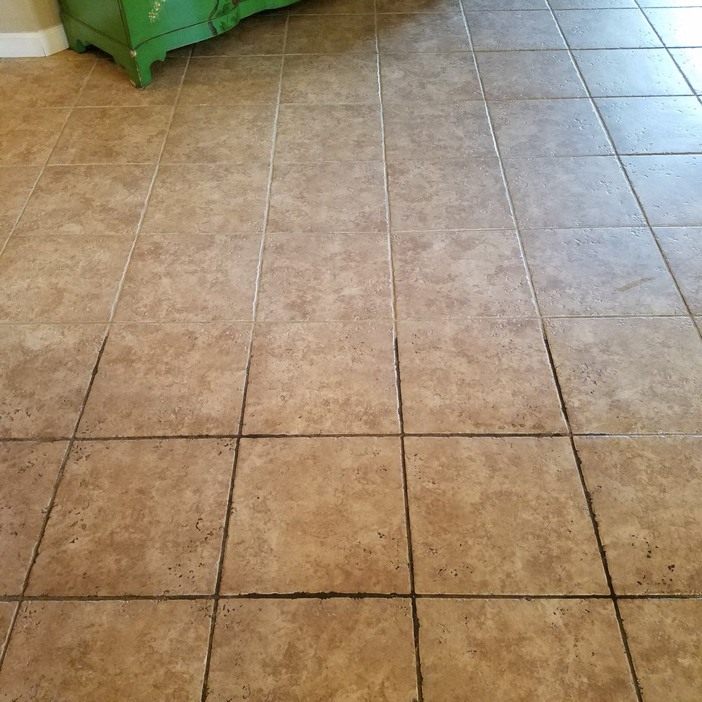 Half Cleaned Tile And Grout In Roseville Ca Yelp