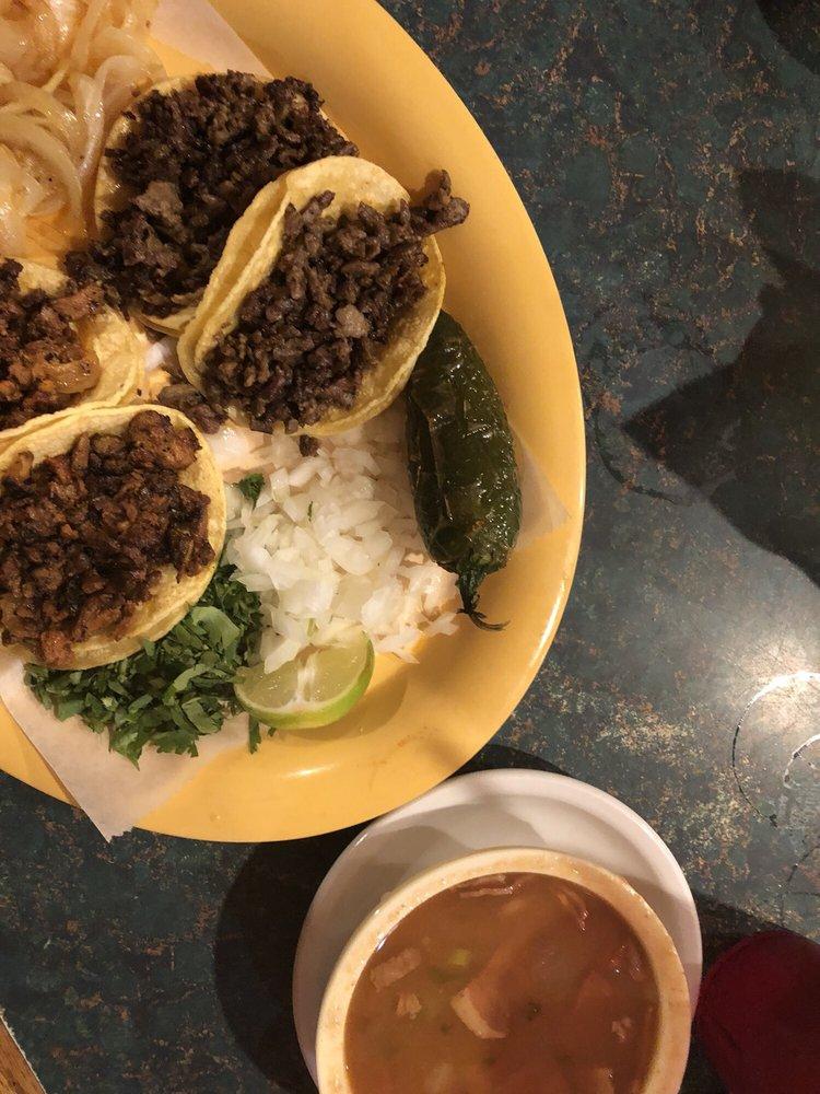 Food from Taqueria Restaurant Vallarta
