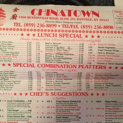 Chinatown Gourmet 10 Reviews Chinese 1560 Hustonville Rd