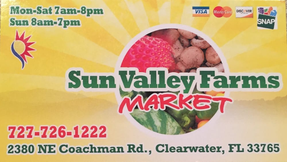 Sun Valley Farms Market: 2380 NE Coachman Rd, Clearwater, FL