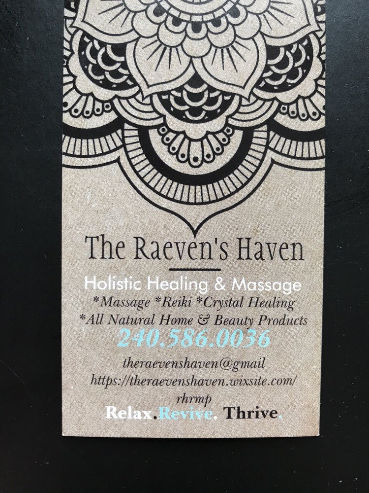 The Raevens Haven Holistic Healing & Massage: 23310 Frederick Rd, Clarksburg, MD