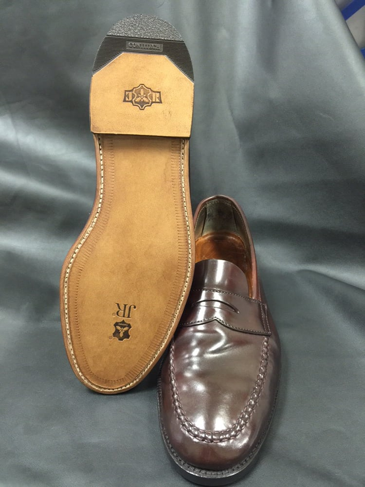 brothers shell cordovan shoe with jr leather sole