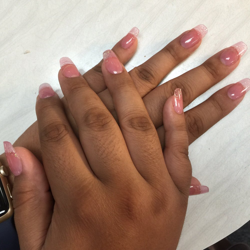 Mauve pink with rose gold flakes - Yelp