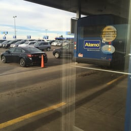 The direct location of Alamo rental at Denver Airport is E78th Ave, Denver, CO The car rental counter is situated within the airport building, but not at the major terminals. The car rental counter is situated within the airport building, but not at the major terminals/10(K).