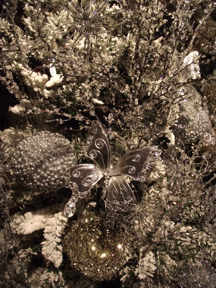 Silver On White Christmas Interior Decorating Interior Design Yelp