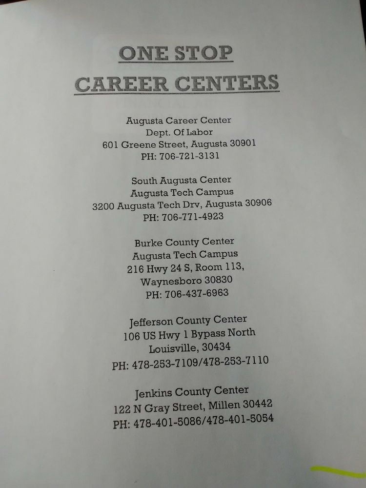 Millen One - Stop Career center: 122 N Gray St, Millen, GA