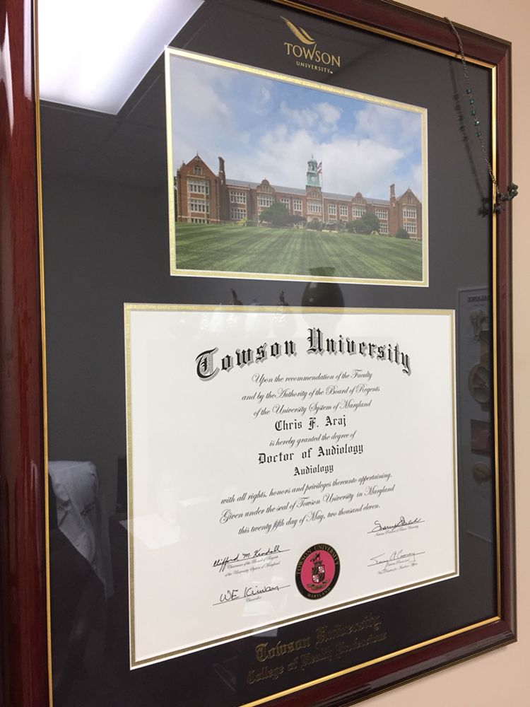 Dr Chris F Arajs Diploma From Towson University Aud Doctorate