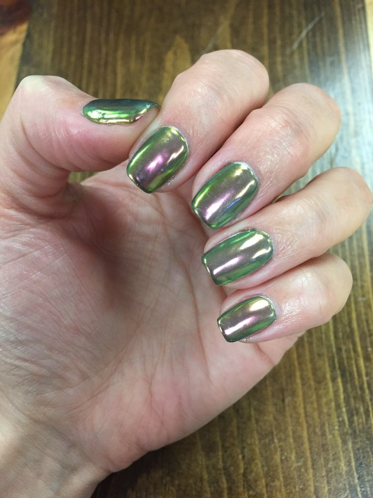 Chrome nails, no chip manicure - Yelp