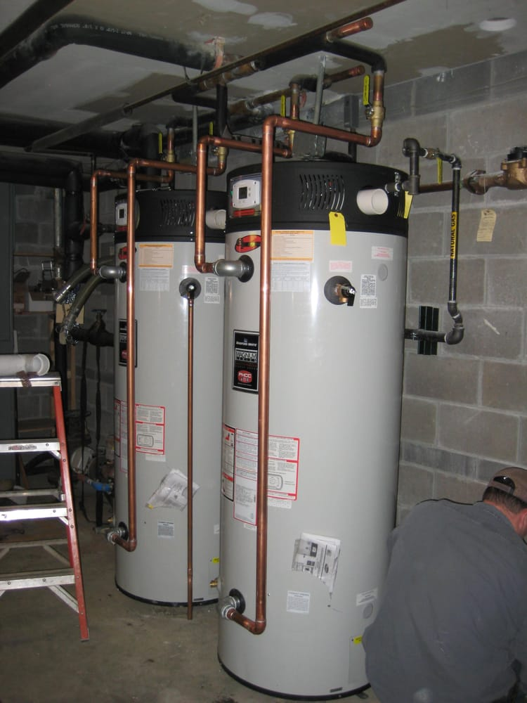 Replaced 3 electric water heater in an apartment complex with 2