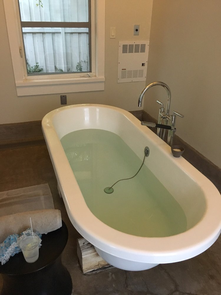 Soaking tub for second part of mudslide treatment. They were huge ...