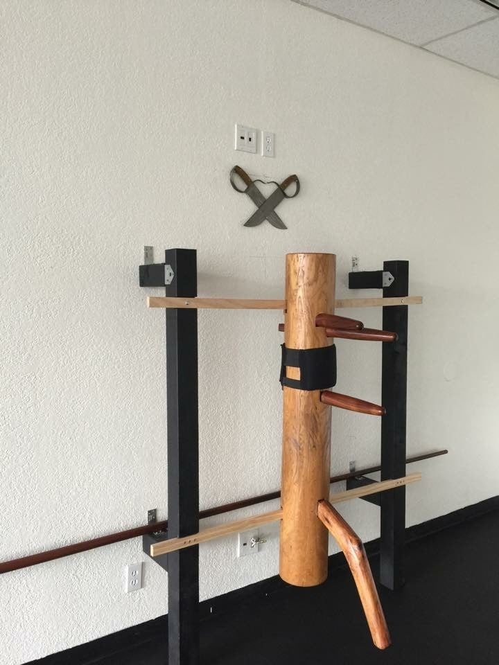 Wing Chun Temple Orange County wooden dummy, weapons, and