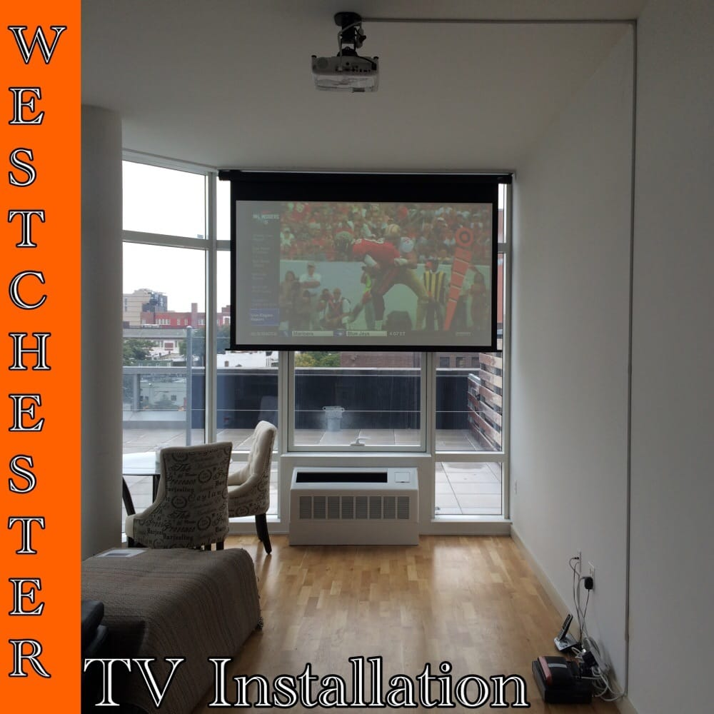 On a Concrete Ceiling we installed there BenQ Projector And on her ...