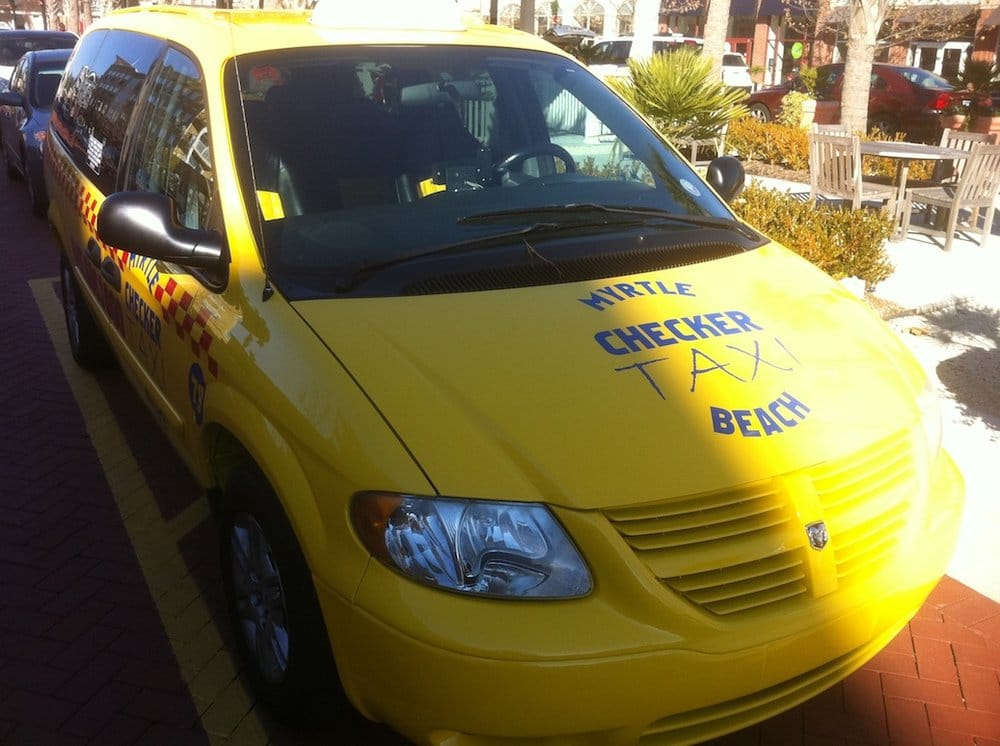 Photo Of Yellow Checker Cab Taxi Myrtle Beach Sc United States