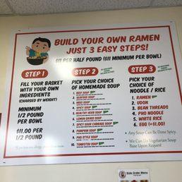 Photos for Build Your Own Ramen   Menu - Yelp